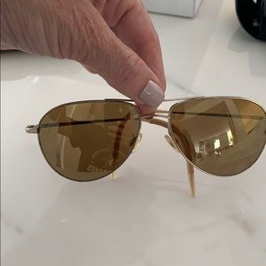 Amazing Oliver Peoples aviator gold sunglasses